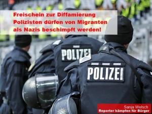 Polizei wird als Nazis beschimpft